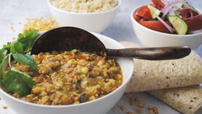 Spicy chana dal