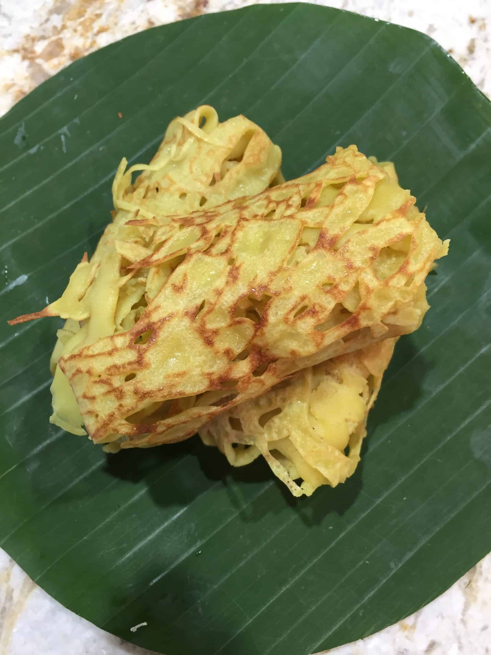 Roti Jala - Malaysian net pancakes