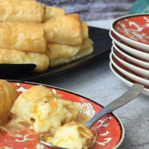 Greek orange custard filo rolls - Galaktoboureko
