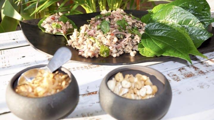Thai chicken larb salad