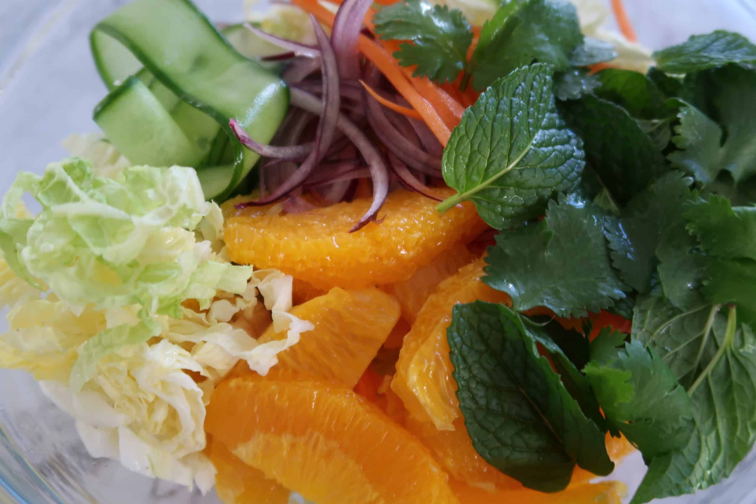 chilli caramel salmon salad salad ingredients
