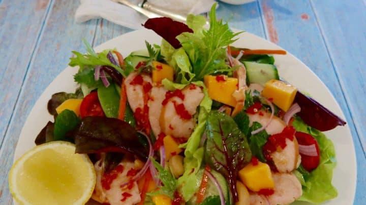 Thai smoked chicken and papaya salad
