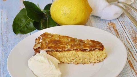 Italian Lemon Almond and White Chocolate Cake