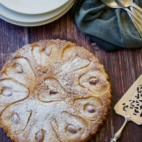 Pear and Almond Crustless Tart