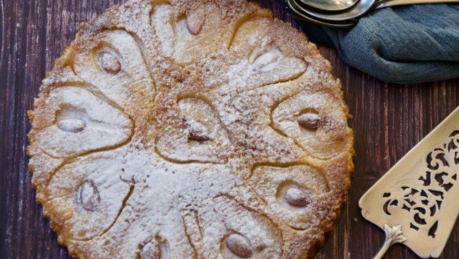 pear and almond crustless tart - gluten free