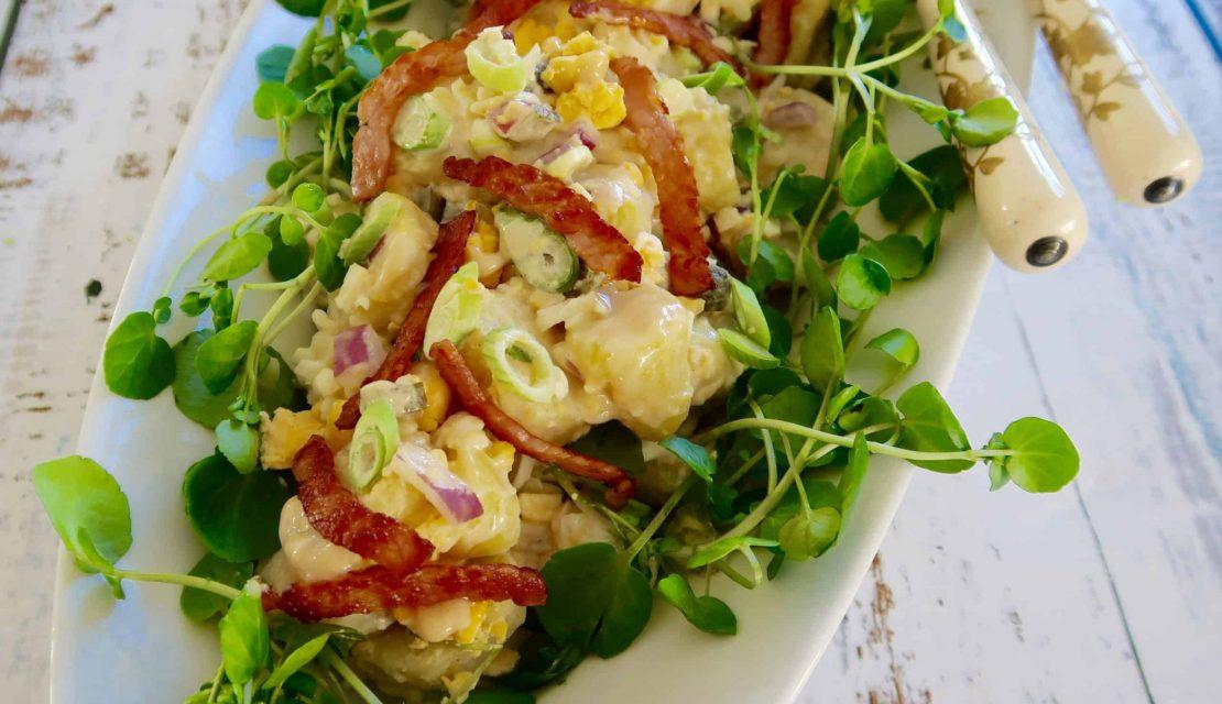 egg and bacon potato salad