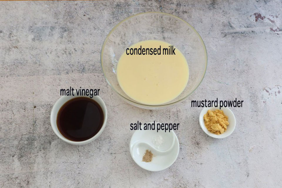 Condensed Milk Mayonnaise Ingredients