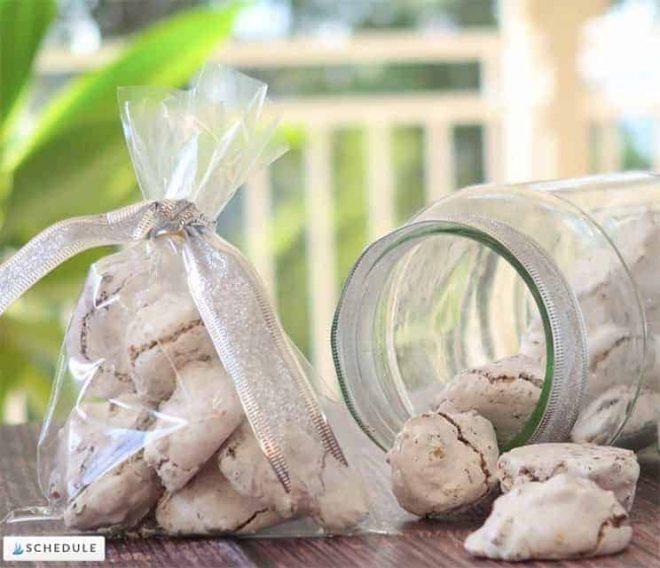 Gift bags of Forgotten Meringue Cookies