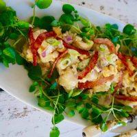 easy egg and bacon potato salad