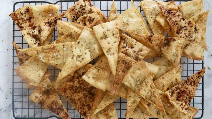 homemade baked pita chips