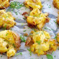 crispy smashed potatoes