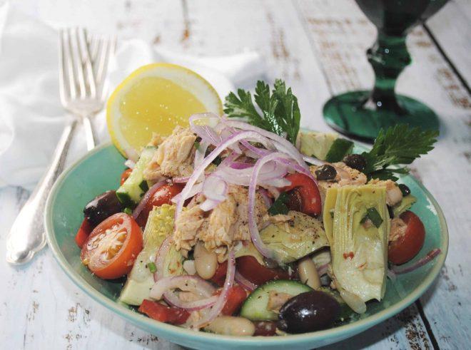 Quick tuna and cannellini bean salad