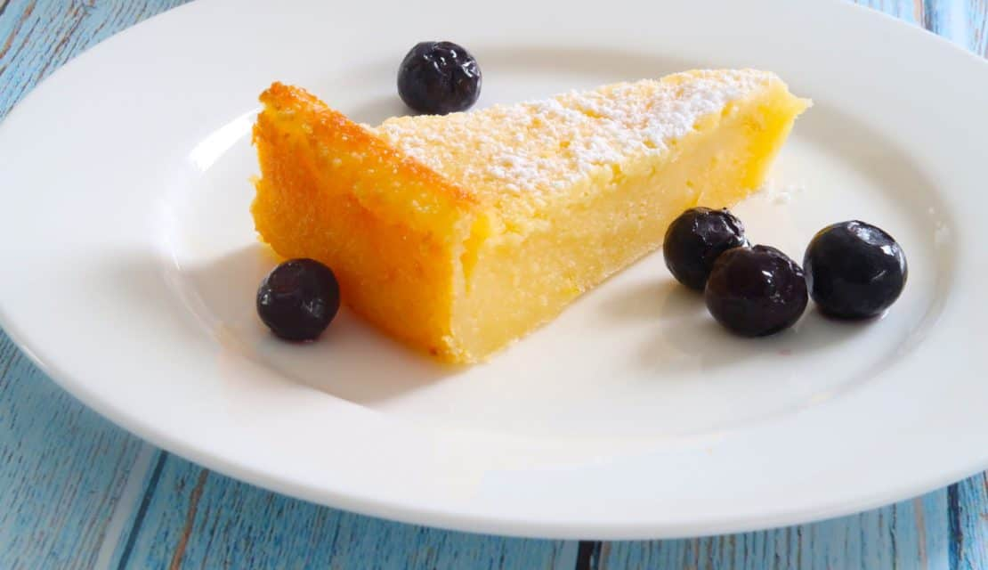 easy crustless lemon tart