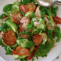 Roasted Sweet Potato, Avocado and Pickled Ginger Salad