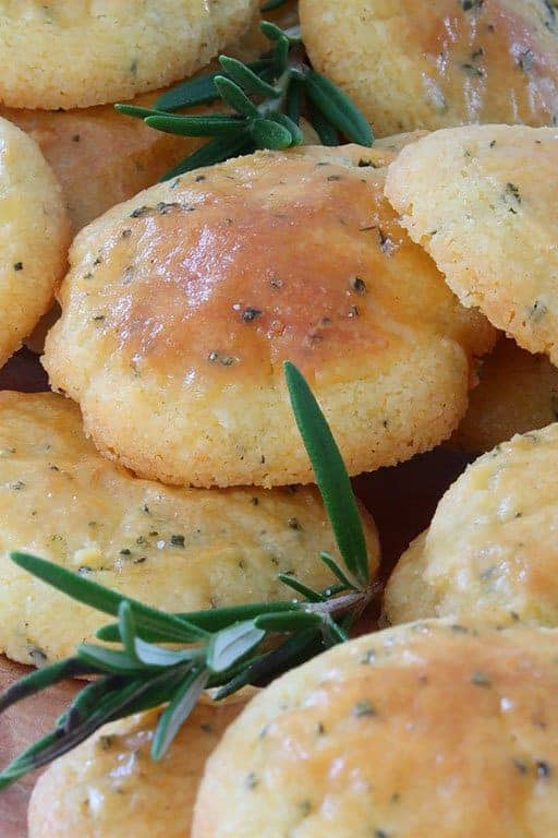 Parmesan and Rosemary Shortbread