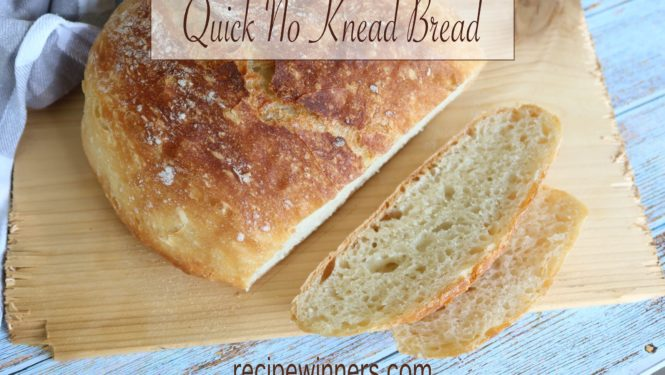 quick no knead bread