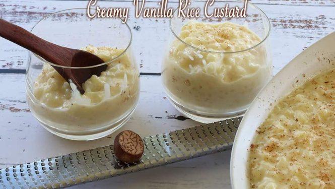 Creamy Vanilla Rice Custard
