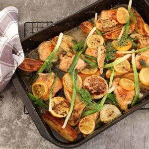 Chicken Fennel Lemon Tray Bake