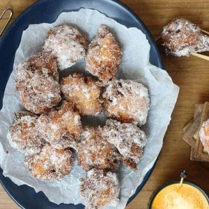 Polenta Apple and Ricotta Fritters