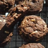 Double Chocolate Almond Cookies