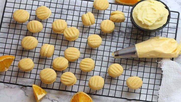 Orange Custard Kiss Biscuits