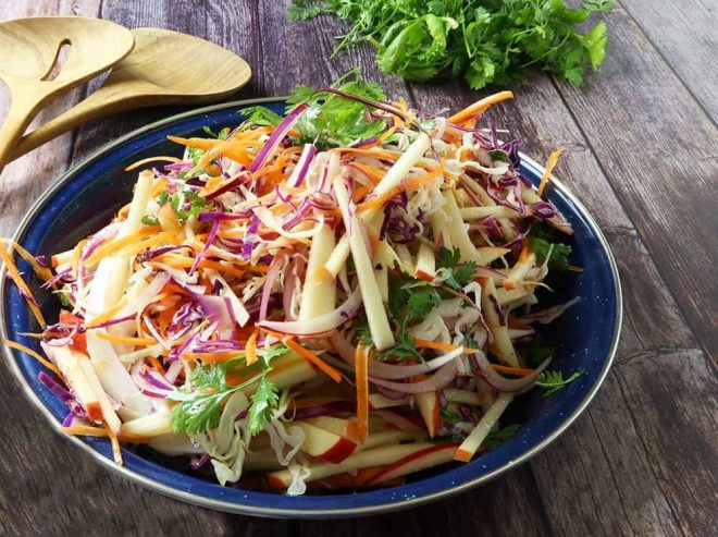 Quick and Easy Apple Slaw