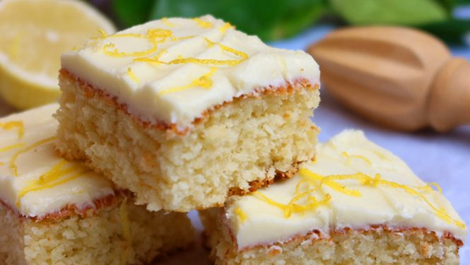 Easy One Bowl Coconut Lemon Slice - No Mixer