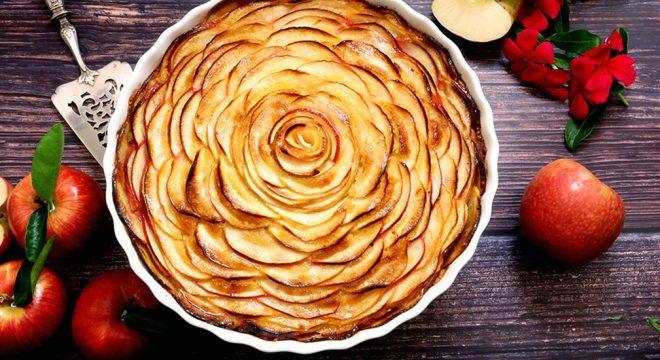 Easy French Apple Frangipane Crustless Tart
