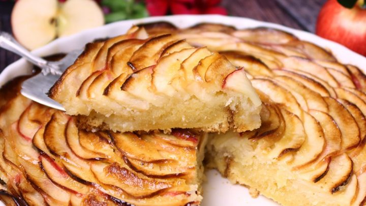 Easy French Apple Frangipane Crustless Tart