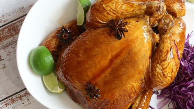 Soy star anise braised chicken