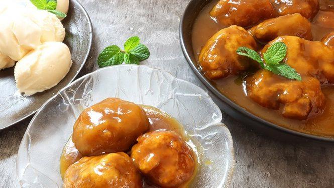 Ginger and spice golden syrup dumplings