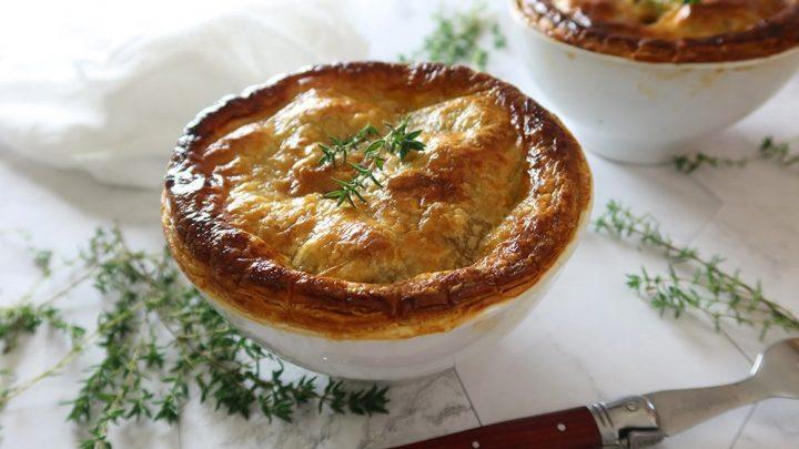 Beef Pot Pie Recipe with Mushrooms