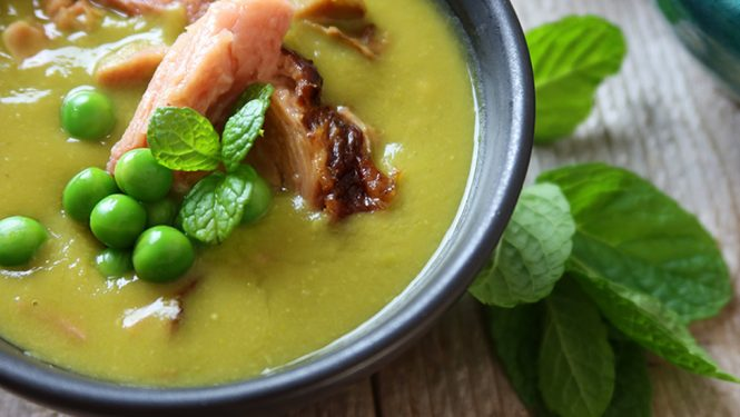 Green Pea and Ham Hock Soup