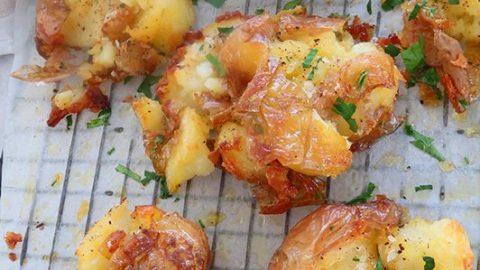 Crispy Smashed Roast New Potatoes