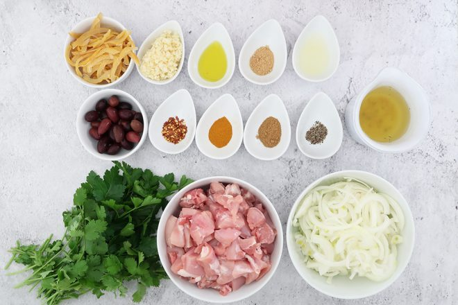 ingredients to make Easy Moroccan chicken