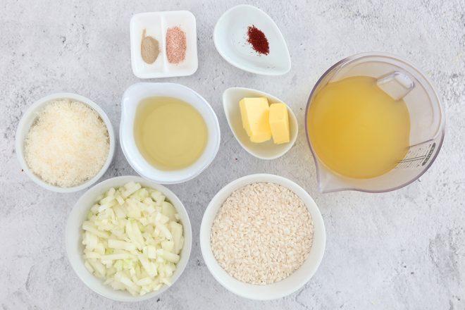 Ingredients to make Risotto Milanese