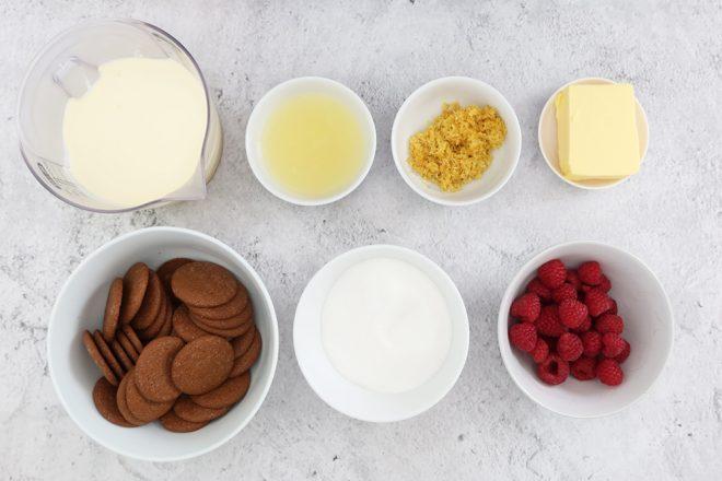 Ingredients to make No Bake Lemon Posset tart