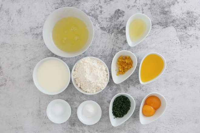 Ingredients to make Blini