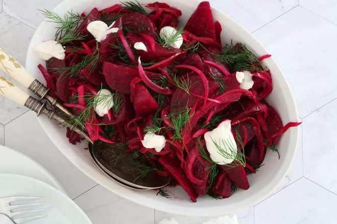 Roast Red Beet Salad With Yoghurt And Dill - Easy Ottolenghi Recipe